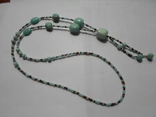 Lariat Necklace in Chinese Amazonite ~ Y Necklace