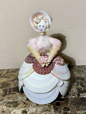 Vintage Hand Crafted Sea Shell Doll - Lady Figurine - Folk Art - 1930s or 40s