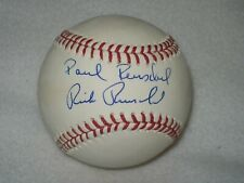 RICK & PAUL REUSCHEL AUTOGRAPHED SIGNED MLB BASEBALL CHICAGO CUBS TRI STAR
