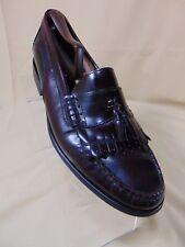 BASS Weejuns Barnett Kiltie Tassel Loafer Shoes 10.5 M Dark Burgundy Brazil
