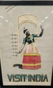 Vintage Original Travel Poster VISIT INDIA 1950s