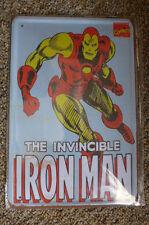 Iron Man Tin Metal Sign Painted Poster Comics Book Superhero Wall Art Move