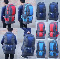 80L Outdoor Travel Hiking Camping Backpack Waterproof  Rucksack Climbing Bags