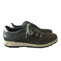 Ara Gore-Tex Trainers Shoes UK 5 Grey Khaki Lace Up Glitter Laces Flat Walking