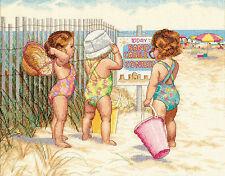 Cross Stitch Kit ~ Dimensions Beach Babies Little Girls on Beach #35216