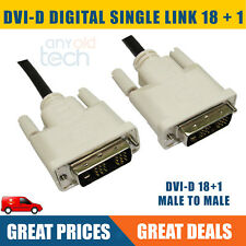 DVI-D 18+1pin Male to Male Cable Digital Video Lead 2M HI QUALITY  DVI Cable