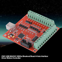 USB MACH3 100Khz 4  Motion Controller Card Board for CNC Engraving Machine