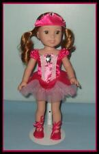Pink Satin Ballet Dress & Shoes Set Ballerina TuTu Fits Wellie Wishers LARK Toni
