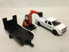 Kubota KX040 Excavator w/Ford F-250 Super Duty Pickup Truck Trailer New Ray Toy