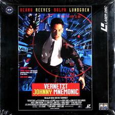 LaserDisc LD JOHNNY MNEMONIC Keanu Reeves, Dolph Lundgren, Dina Meyer 1995 ovp