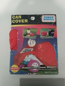 Fisher Price Power Wheels Car Cover Red Weather And UV Resistant 1999 vintage