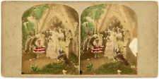 """Stereo, Angleterre, """"The Happiest Day of my Life"""" Vintage stereo card -  Tirag"""