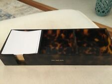 Kate Spade Acrylic Note Holder Tortoise Shell Desk Organizer With Note Paper Euc