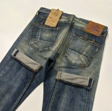 New PRPS Fury Selvedge Denim Mens Jeans Distressed Tapered Oil W32 L34 RRP £595