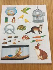 Creative Memories Pet Lover Block Sticker Rabbit Birds Fish Cage Aquarium Turtle