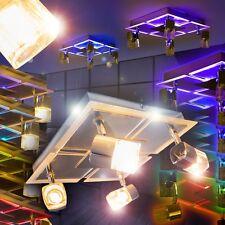 Deckenlampe LED Farbwechsler Wohn Zimmer Leuchte Chrom Flur Lampen Fernbedienung