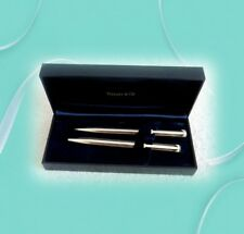 Tiffany sterling silver pen and pencil set - with box - FREE SHIPPING