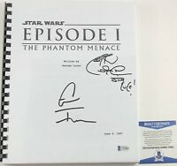 Ray Park & Grant Imahara Dual Signed Star Wars The Phantom Menace Script BAS COA