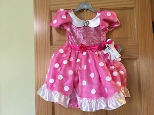 Disney Store Minnie Mouse Little Girl Costume Dress Shoes Size 9//10