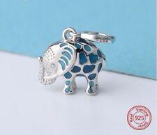 Charm Elefante Nuevo Plata de ley 925 pulsera abalorio colgante
