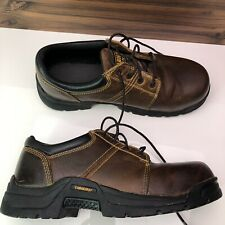 Carolina CA1525   Men's Shoes 8.5 D Steel Toe Leather Oxfords Brown Lace Up