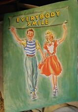 1949 Booklet EVERYBODY SMILE Vera Neville American Dental Assoc & Georgia Health