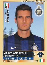 MARCO ANDREOLLI # ITALIA INTER RARE UPDATE STICKER CALCIATORI 2014 PANINI