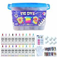WINSONS Tie Dye Kit, 20 Colours Non Toxic Permanent Fabric Dye Art Set for Kids