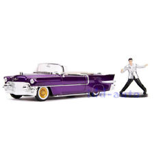 JADA 1956 CADILLAC ELDORADO PURPLE W/ELVIS PRESLEY FIGURE 1/24 DIECAST CAR 30985