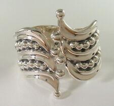 925 sterling silver ornate spring-loaded bangle bracelet