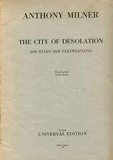 Die Stadt der Verzweiflung The City of Desolation Millner RARE vocal score piano