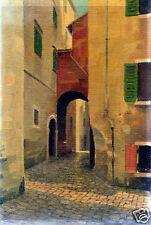 Viuzza a Treviso-PAESAGGIO-olio su faesite-1920.