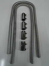 """Flexible Universal Stainless Steel Heater Hose Kit 44"""" Ford Chevy Dodge 7314"""