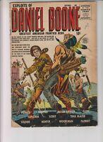 Exploits of Daniel Boone 1 G+ (2.5) 11/55 Quality Comics Group!