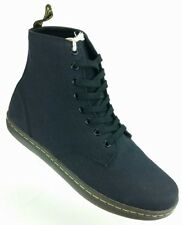 Dr Martens Alfie Mens 10 Womens 11 Casual 8-Eye Lace Up Canvas Ankle Boots Black