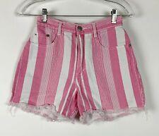 GITANO Womens 5/6 VINTAGE VTG 80S Pink High Waist Jean Shorts