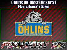 Ohlins Bulldog Decal Sticker x1 Suspension car van Bike Shock motorcycle biker