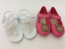 KATE MACK White Sandals 24 Uk 7 Mel Melissa Rubber Pink Shoes Size 22 Uk Infant