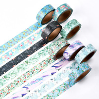 Lovely Flowers Style Photo DIY Washi Shielding Sticker Tape Scrapbooking Label