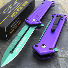 "7.5"" JOKER SPRING ASSISTED STILETTO FOLDING POCKET KNIFE Blade Batman Two Tone"