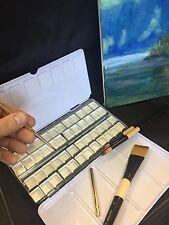 Portable Watercolor Metal Travel Artist Case Empty 48 cake pans-$19.99 HUGE SALE