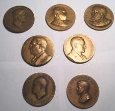 "Lot 7 US Presidential Inauguration 3"" Bronze Medals JFK, Ike, US Grant Harding"