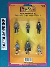 30-11048 MTH Railking O/O27 6 Piece Figure Set Bus Station Employees/Patrons NIB