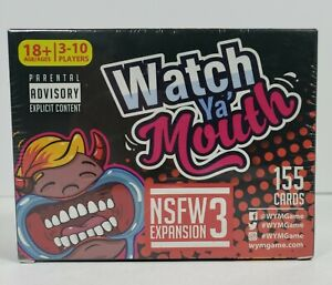 Watch Ya' Mouth NSFW Expansion Pack 3 Adult Party Game 155 Cards