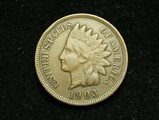 SUMMER SALE!! XF 1903 INDIAN HEAD CENT PENNY w/ DIAMONDS & FULL LIBERTY #76c