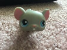 Littlest Pet Shop LPS Grey Mouse #80 Blue Eyes And Pink Feet Hasbro