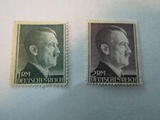 Germany Stamps,Post Hitler Head High Value, Set/2 Stamps Scott # 524-525 Mnh Ng,