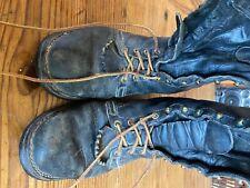 """Vintage 10"""" Wesco Highliner Lineman Logger Firefighter Boots Black Size 8E"""