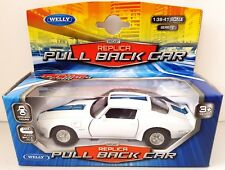1972 PONTIAC FIREBIRD TRANS AM - Welly Diecast Replica Pull Back Car 1:36 Scale