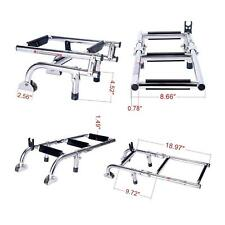 Marine Boat Foldable Stainless Steel 3 Steps Ladders Stern Mount W Rubber Grips